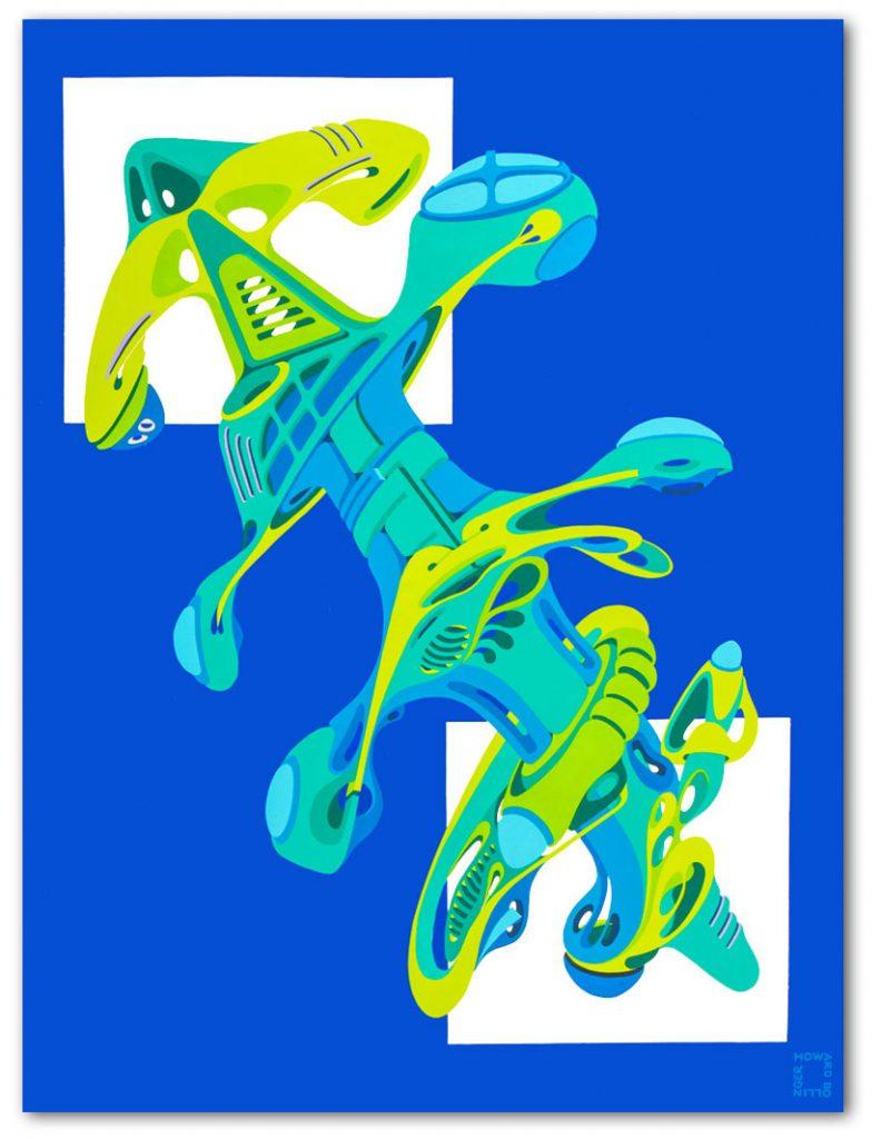 """Telescopic Frog 27""""x 35"""""""